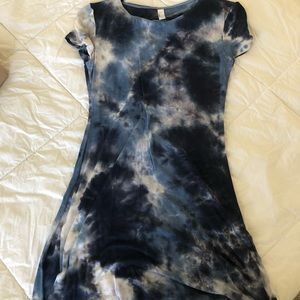 Blue and white American apparel dress.